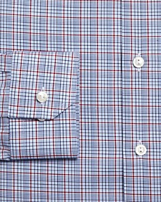Eton - Multi-Check Slim Fit Dress Shirt