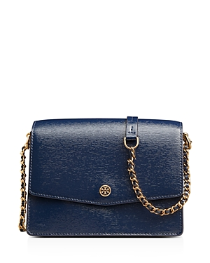 Tory Burch Robinson Patent Leather Convertible Shoulder Bag