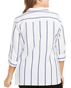 Foxcroft Plus - Dora Non-Iron Striped Tunic Top