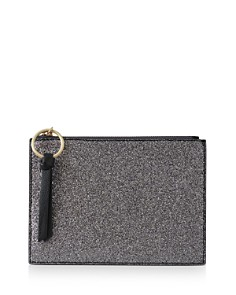 REISS - Phoebe Metallic Zip Pouch