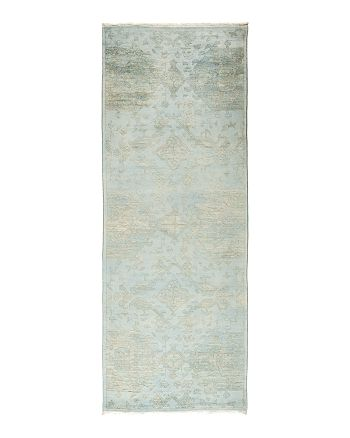 Solo Rugs - Vibrance Collection Vita Hand-Knotted Area Rug, 3' x 8'2""