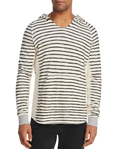 Mills Supply - Point Sure Striped Long-Sleeve Hooded Tee