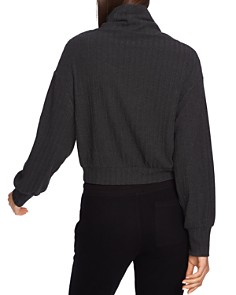 1.STATE - Cropped Mock-Neck Sweater