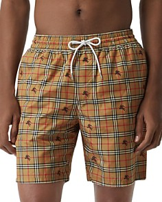 Burberry - Guildes Equestrian Knight Check-Print Swim Shorts
