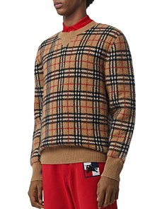Burberry - Banbury Check-Pattern Felted Cashmere Sweater