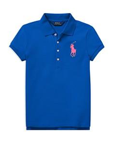 Ralph Lauren - Girls' Big Pony Stretch-Mesh Polo Shirt - Big Kid