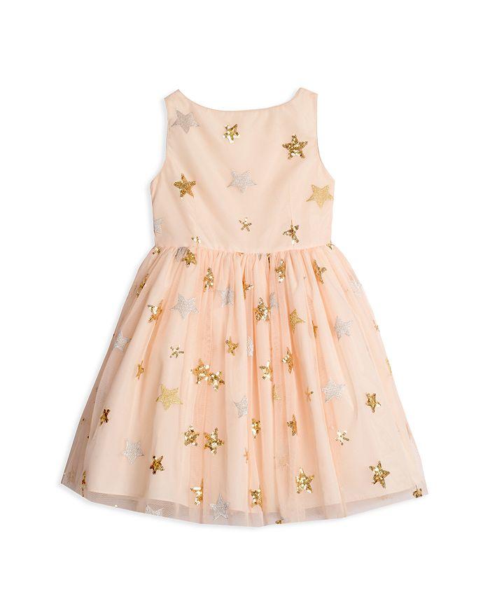 Pippa & Julie - Girls' Embellished Sequined-Star Dress - Little Kid
