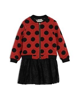 35101df62 Pippa & Julie - Disney Girls' Mickey Reversible Bomber Jacket & Dress Set -  Little ...