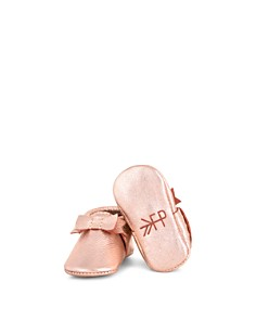 Freshly Picked - Girls' Leather Bow Moccasins - Baby