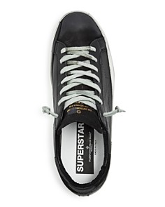 Golden Goose Deluxe Brand - Men's Superstar Distressed Leather Low-Top Sneakers