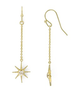 AQUA - Starburst Drop Earrings in 14K Gold-Plated Sterling Silver - 100% Exclusive