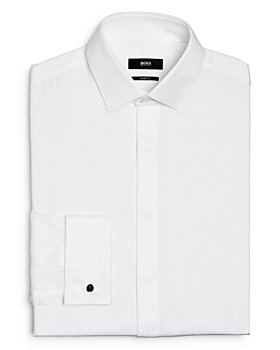 BOSS - Myron Pincord Stripe Sharp Fit Tuxedo Shirt