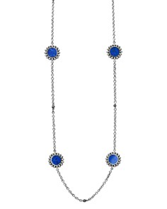 LAGOS - Sterling Silver Maya Lapis Station Necklace, 34""