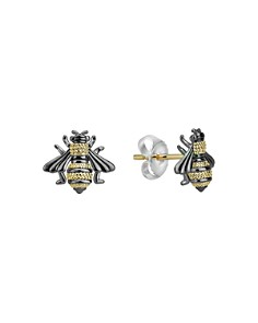 LAGOS - 18K Yellow Gold & Sterling Silver Rare Wonders Honeybee Stud Earrings