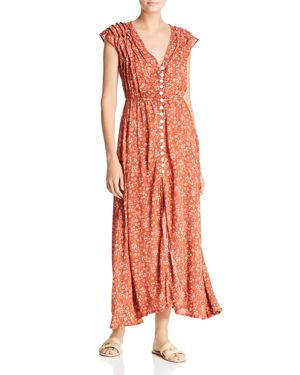 Tiare Hawaii Veuve Floral-Print Maxi Dress