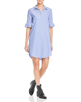 531a312af45 Scotch   Soda - Ruffle-Sleeve Pinstriped Shirt Dress ...