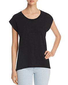 Lyssé - Cap-Sleeve High/Low Tee