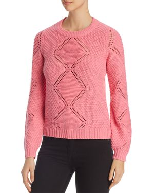 Vero Moda Wishi Peacock Lace-Knit Sweater