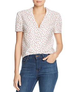Re:Named - Emily Lapeled Floral Blouse