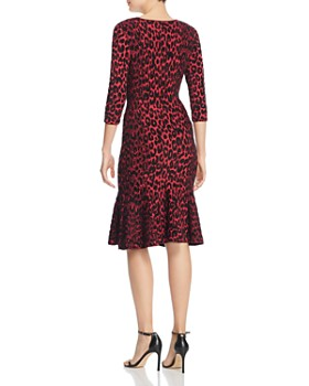 a29628ee458 ... MILLY - Textured Leopard-Print Dress