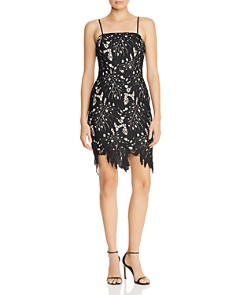 AQUA - Scalloped Botanical Lace Dress - 100% Exclusive