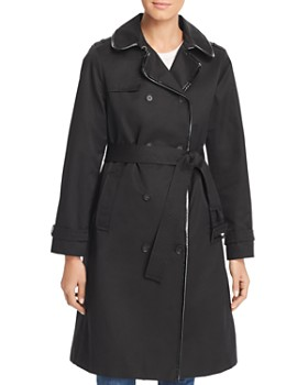 kate spade new york - Long Millbrook Twill Raincoat