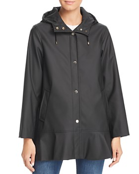 kate spade new york - Matte Coated Flounce Jacket