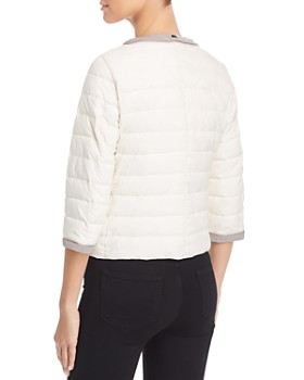 Herno - Nuage Ribbon-Trim Cropped Quilted Jacket