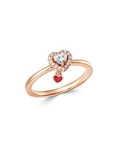 Bloomingdale's - Diamond Heart Ring in 14K Rose Gold, 0.25 ct. t.w. - 100% Exclusive