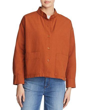Eileen Fisher Petites - Mandarin Collar Jacket
