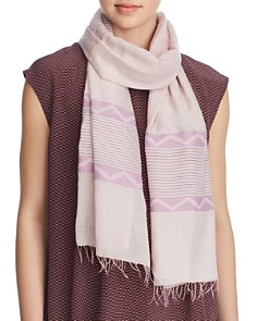 Eileen Fisher - Geometric Stripe Print Scarf