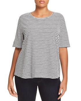 Eileen Fisher Plus - Striped Short-Sleeve Tee