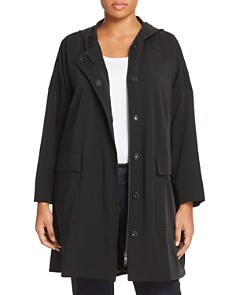 Eileen Fisher Plus - Hooded A-Line Jacket