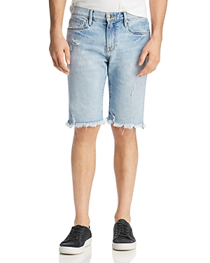 Frame Shorts L'HOMME CUT-OFF STRAIGHT FIT DENIM SHORTS IN HIDEOUT
