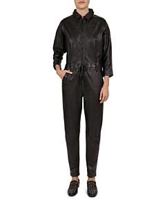 The Kooples - Leather Jumpsuit