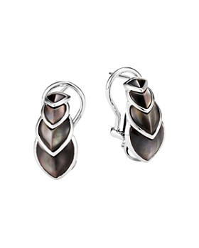JOHN HARDY - Sterling Silver Legends Naga Gray Mother-of-Pearl Buddha Belly Earrings