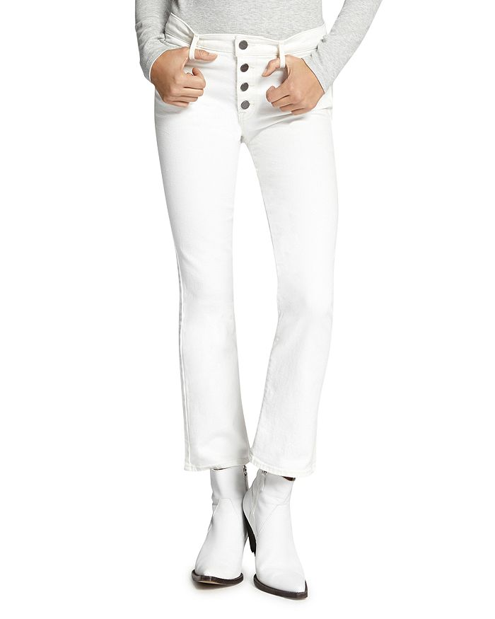 3d40a081 Sanctuary Connector Cropped Flare Jeans in Angeleno White ...
