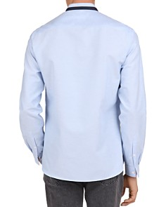 The Kooples - Grosgrain-Trim Slim-Fit Oxford Shirt