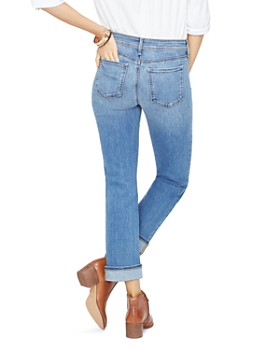 NYDJ - Marilyn Straight-Leg Cuffed Ankle Jeans in Rhodes