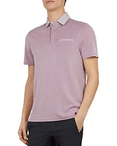 Ted Baker - Doller Woven-Collar Regular Fit Polo Shirt