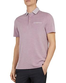 edc2642f2ef8 Ted Baker - Doller Woven-Collar Regular Fit Polo Shirt ...