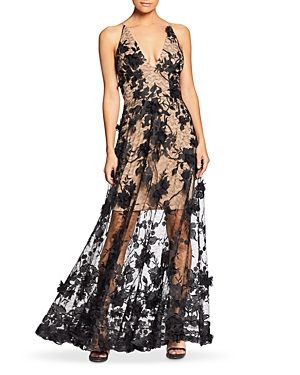 Dress The Population Dresses DRESS THE POPULATION SIDNEY EMBELLISHED LACE GOWN