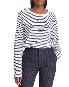 Ralph Lauren - Striped Logo Graphic Sweatshirt ... 901efbb361f