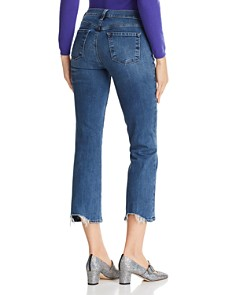 J Brand - Selena Crop Bootcut Jeans in Polaris Destruct