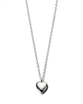 Kris Nations - Heart Locket Pendant Necklace in Gold-Plated Sterling Silver & Sterling Silver, 16""