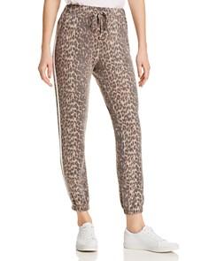Vintage Havana - Track Stripe Leopard Jogger Pants