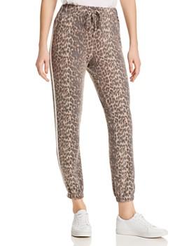e359613a388a Vintage Havana - Track Stripe Leopard Jogger Pants ...