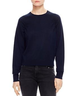 Sandro - Ana Ruched Raglan Sweater