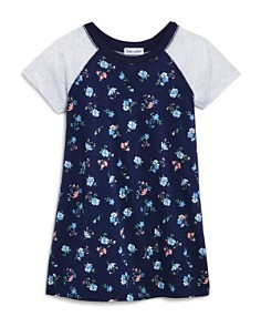 Splendid - Girls' Floral Raglan T-Shirt Dress - Little Kid