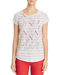 NIC and ZOE - Cabana Embroidered Striped Top